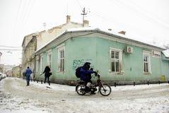 ακραίος χειμώνας της Ευρώπης Στοκ φωτογραφίες με δικαίωμα ελεύθερης χρήσης