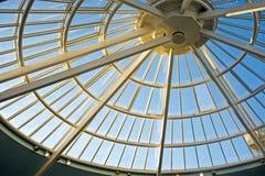 圆锥形玻璃屋顶 库存照片