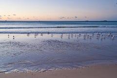 восход солнца пляжа мирный Стоковая Фотография RF