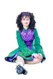 женщина танцора ирландская сидя Стоковые Фотографии RF
