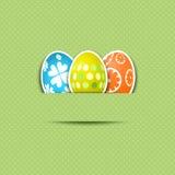 背景逗人喜爱的复活节彩蛋 免版税库存图片