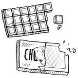 棒巧克力草图 免版税库存图片