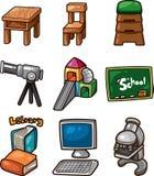 сеть вектора иллюстрации иконы образования Стоковые Изображения