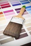 图表颜色油漆刷整修 免版税图库摄影