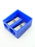 голубая точилка для карандашей Стоковые Изображения RF