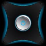 Накаляя кнопка силы Стоковое Изображение RF