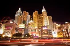 纽约旅馆娱乐场在拉斯维加斯 库存图片