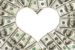 Влюбленность денег Стоковые Фотографии RF