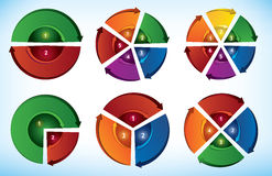 循环介绍模板 免版税库存照片