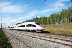 υψηλή ταχύτητα ραγών Στοκ Φωτογραφία