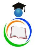 教育徽标 库存照片