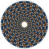 圆的几何当地背景 免版税库存照片