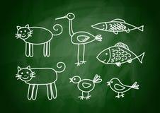 рисовать животных Стоковые Изображения RF