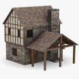 中世纪的锻工 库存图片