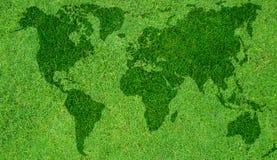 绿色映射世界 免版税图库摄影