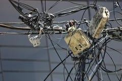 配电器能源混乱 图库摄影