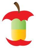 苹果自然药片维生素 免版税库存照片