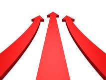αφηρημένο λευκό επιτυχίας βελών κόκκινο αυξανόμενο επάνω Στοκ Εικόνες