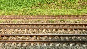 线路并行铁路运输 图库摄影