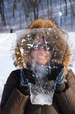 γυναίκα κομματιού πάγου Στοκ φωτογραφίες με δικαίωμα ελεύθερης χρήσης
