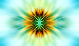 абстрактное схематическое солнце Стоковая Фотография