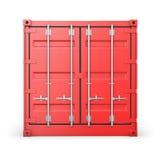 μπροστινή κόκκινη ενιαία όψη εμπορευματοκιβωτίων Στοκ Εικόνα