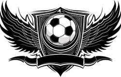 球图象华丽足球模板 图库摄影