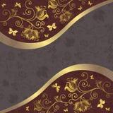 框架金子灰色紫色 免版税库存图片