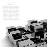 абстрактные кубики черноты предпосылки Стоковое Фото