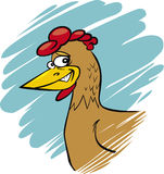 αστεία κότα Στοκ Εικόνες