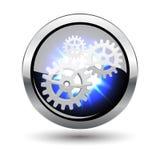 五颜六色的凸面光滑的按钮向量集 免版税库存图片