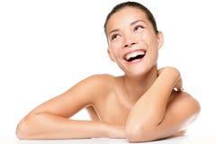 женщина кожи внимательности красотки Стоковое Изображение RF
