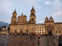波哥大大教堂正方形 免版税库存照片