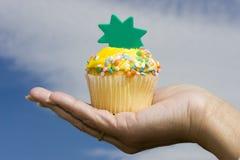 庆祝杯形蛋糕 库存照片