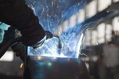 钢焊接 库存照片