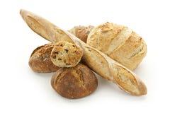 在多种上添面包 免版税图库摄影