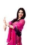 愉快的印度印第安微笑的妇女 免版税库存图片