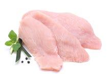 一片无骨的肉母鸡火鸡 库存图片