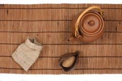 东方茶时间顶视图 库存图片