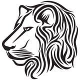 部族顶头狮子的纹身花刺 图库摄影
