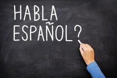 语言学习西班牙语 免版税库存照片