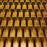 Штабелированное золото в слитках Стоковая Фотография RF