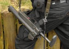 警棒枪拍打 免版税图库摄影