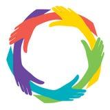 χέρια ποικιλομορφίας Στοκ Εικόνες