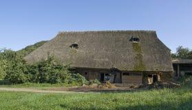 传统黑色农庄的森林 免版税库存图片