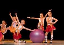 舞蹈爱尔兰语 免版税库存照片
