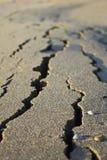 треснутый песок Стоковое Изображение