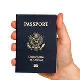 пасспорт руки Стоковая Фотография