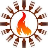καυτό λογότυπο μαγείρων Στοκ φωτογραφίες με δικαίωμα ελεύθερης χρήσης