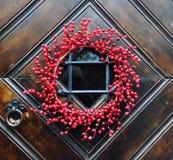 закройте украшенную дверь вверх Стоковое Изображение